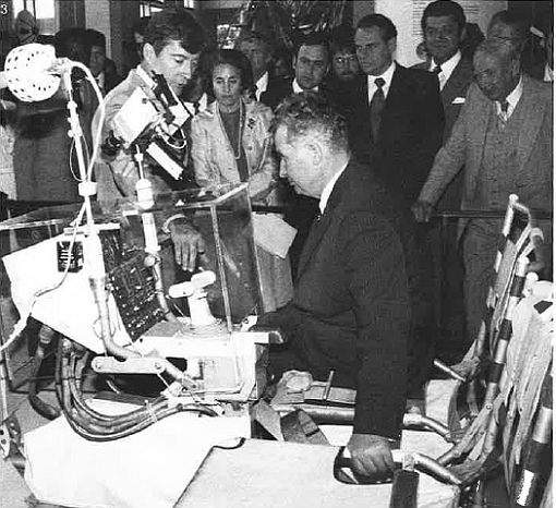 Ceausescu at the Houston Space Center
